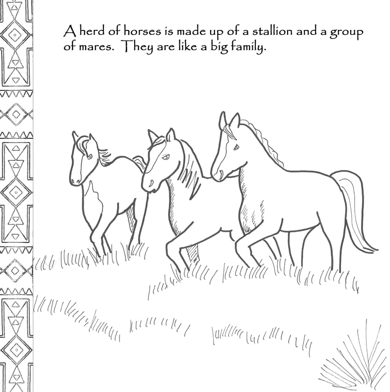 Spirit Horse Coloring Book - GarethMusic.com